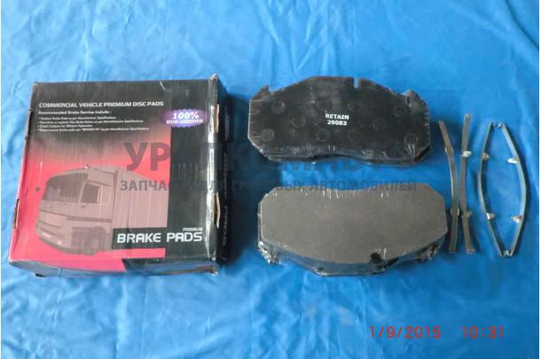 Комплект дисковых колодок 250x118x28; Meritor D3/D-Elsa 1   (комплект 4шт.) Retain
